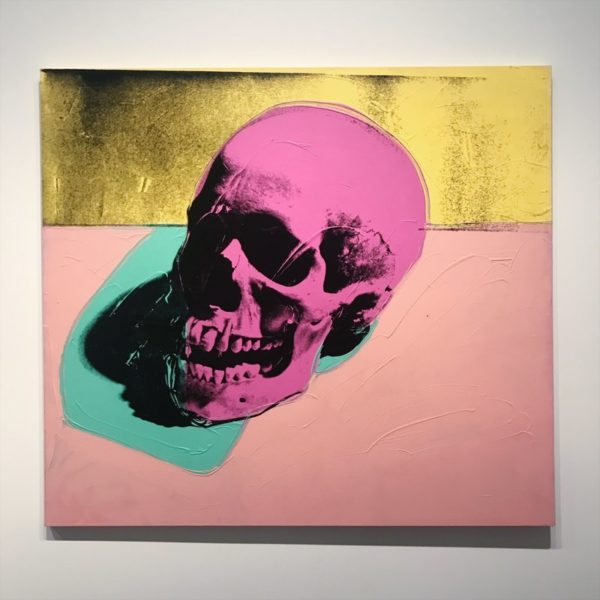 Andy warhol, pink skull, silk screen,