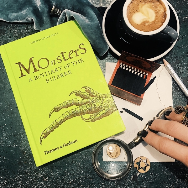 Monsters book, bestiary of bizarre, book blog,