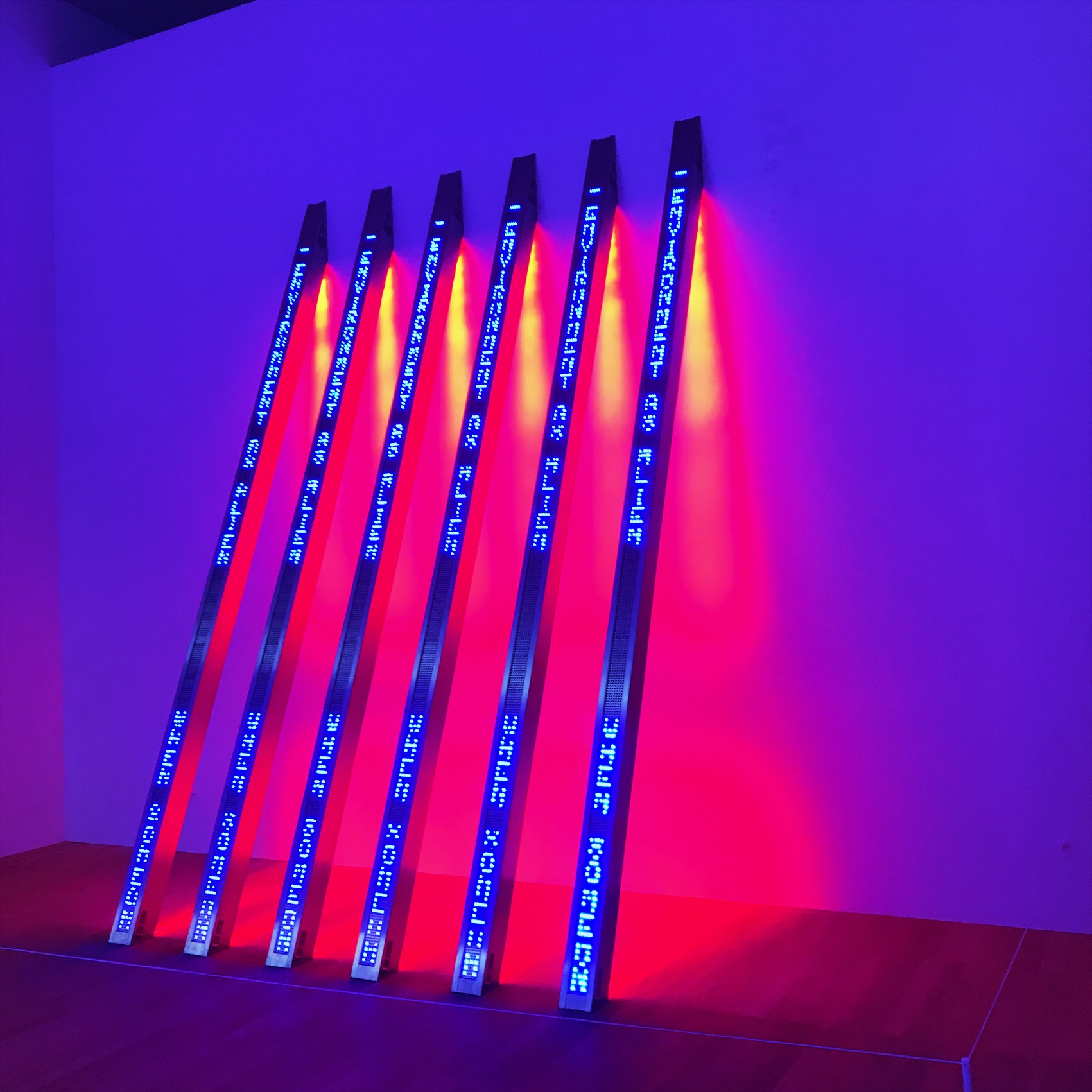 jenny holzer, leds art, neon art, light bars, truisms, laments, neo contemporary, new york artist,