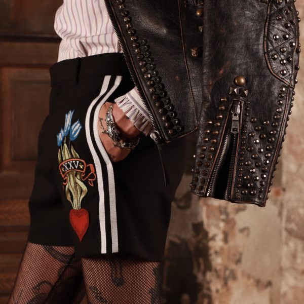 gucci, studs, nonbinary fashion, fishnets, lucifer style, about men fashion,