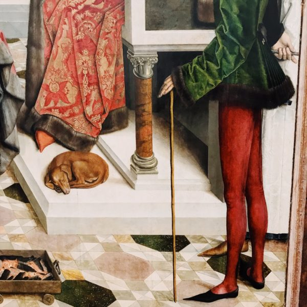 Red tights, men tights, fashion in painting, fashion in art, men fashion history, men fashion blog,
